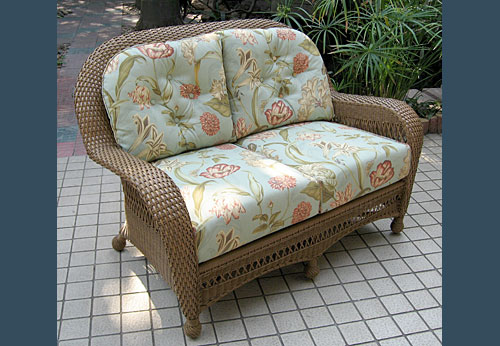 Style All Weather Wicker Deep Seat Loveseat Cushions