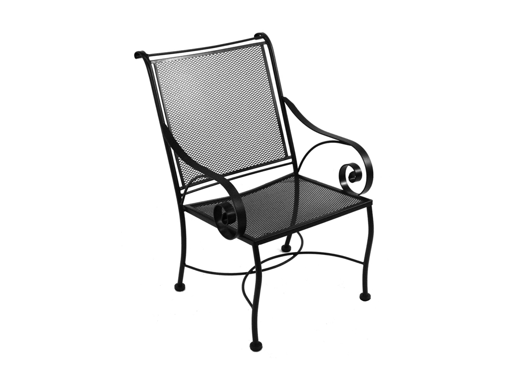Style Wrought Iron Monticello Dining Chair Bronze